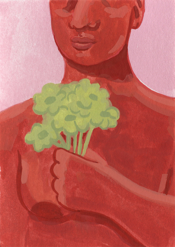 Bring Yourself Flowers. Personal work. Gouache.